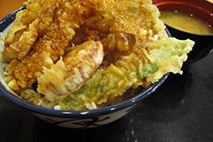 Tendon : légumes frits sur riz