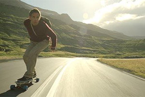 Walter sur son skate
