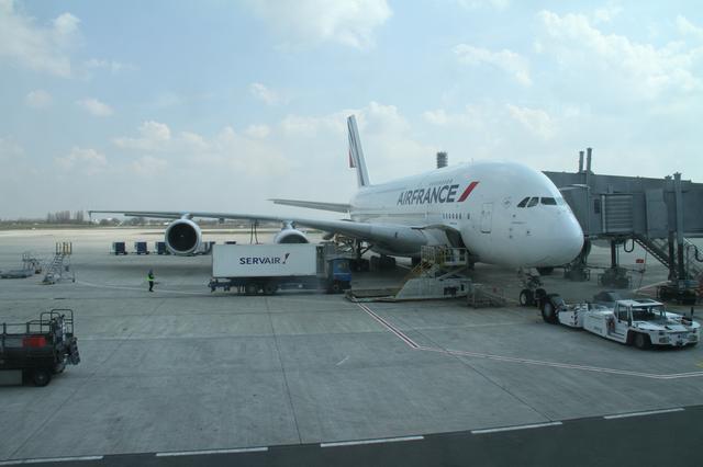 A380 à Roissy Charles de Gaulle