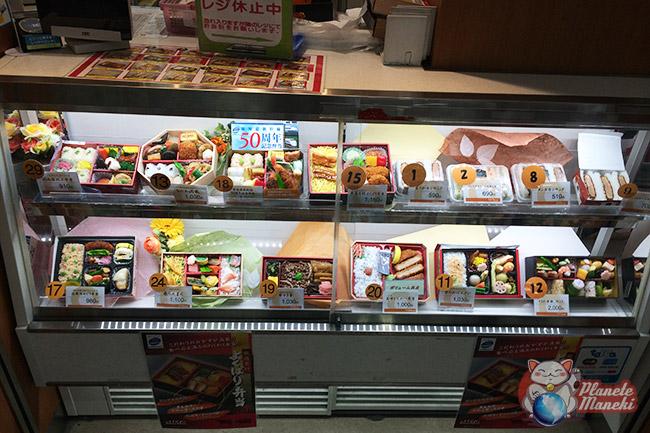 Choix du plat à manger dans un shinkansen