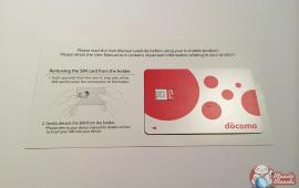 Carte SIM nano NTT Docomo