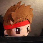 Gros plan sur la peluche de Ryu