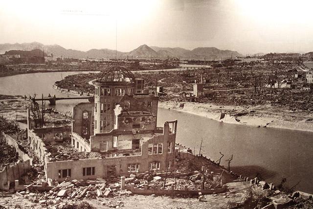 Hiroshima complètement rasée