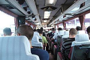 Dans le bus direction Tokyo