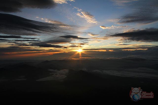 Vue en haut du mont Fuji