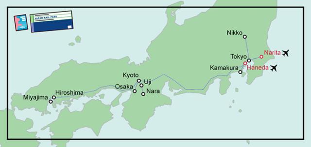 Trajets en train au Japon