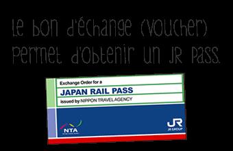 couverture d'un bon d'échange pour obtenir un JR Pass