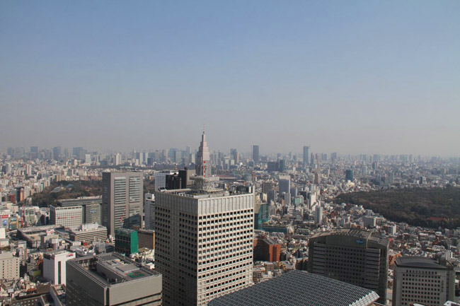 Vue de l'observatoire de la mariei de Shinjuku