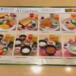 Carte du petit déjeuner