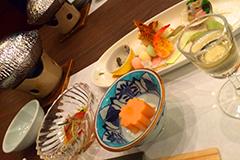 Entrée du repas kaiseki à Miyajima