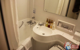 Salle de douche de la chambre single