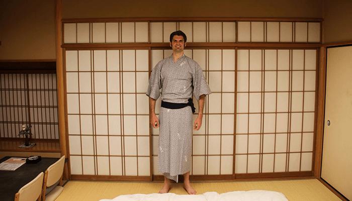 En yukata à Miyajima