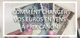 Echangez vos euros en yens au meilleur prix