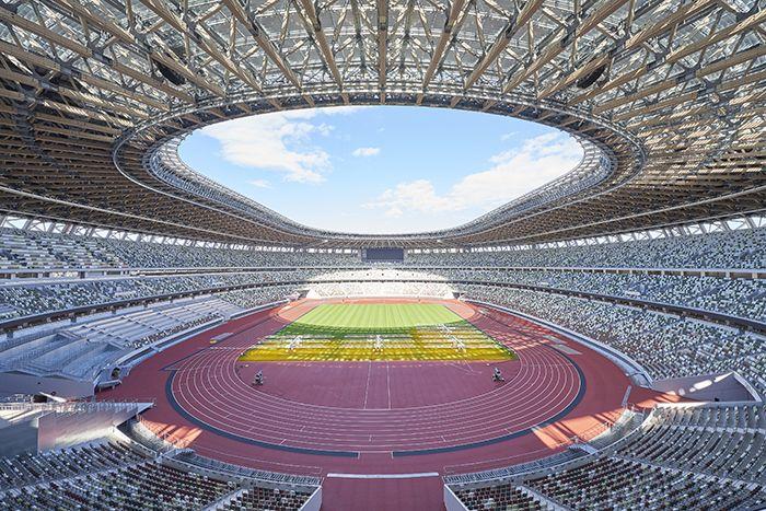 Intérieur du stade olympique des JO de Tokyo 2020