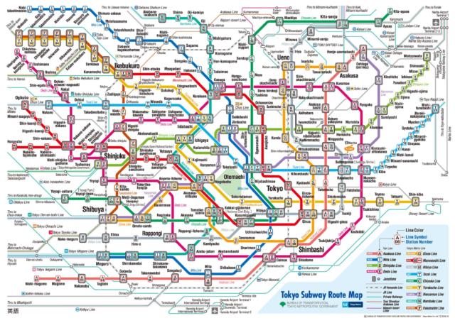 Plan du métro tokyoïte