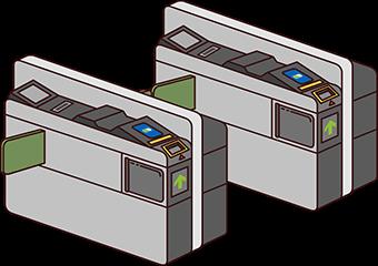 Portiques automatiques dans une station Yamanote