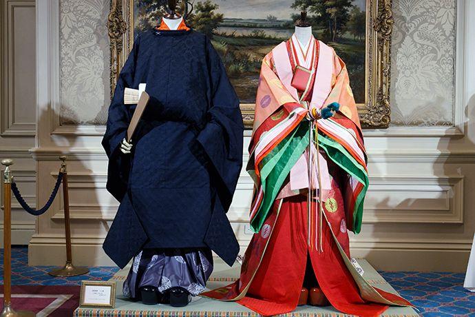 Kimonos Homme et Femme de la période Heian du Japon